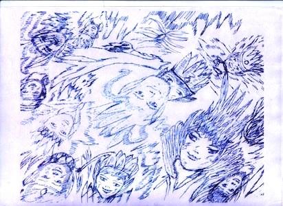 dessin médimnique 001