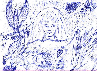 dessin médimnique 004