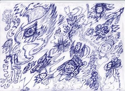 dessin médiumnique 001